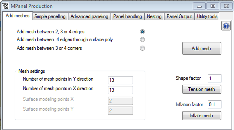 MPanel Production Interface